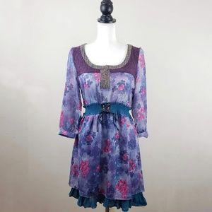 NWT! Lulumari Peasant Style Dress
